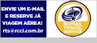 Envie um e-mail e solicitar informações sobre viagens aéreas para turismo1@royalcaribbeanbrasil.com.br
