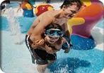 A família no parque aquático H2O Zone